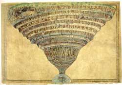 Η Κόλαση του Δάντη, από τον Boticelli