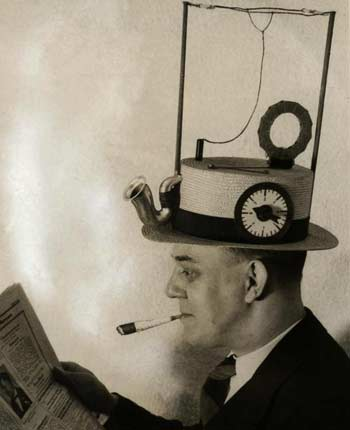 the first portable media player with a straw hat with a radio built in…