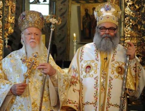 Ο Οικουμενικός Πατριάρχης μαζί με Πατριάρχης Αντιοχείας Ιωάννης / ©φωτο: Νίκος Μαγγίνας
