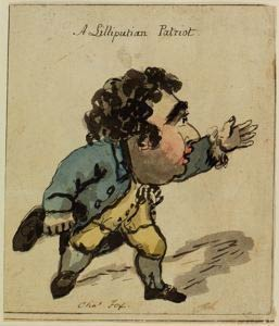 Λιλιπούτειος Πατριώτης -A Lilliputian Patriot – Charles Fox 18th c.