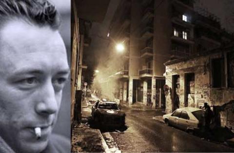 φωτογραφία δίπλα στον Καμύ, από τα χτεσινά γεγονότα ©cnn.gr